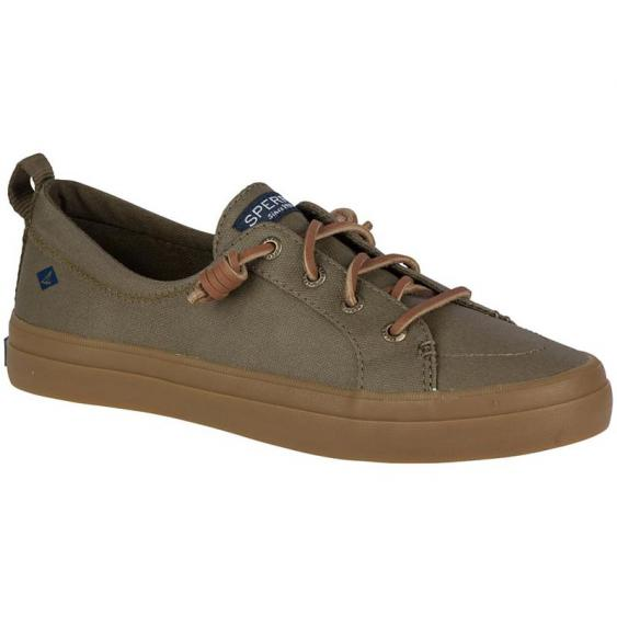 Sperry Crest Vibe Waxed Dark Olive STS99504 (Women's)