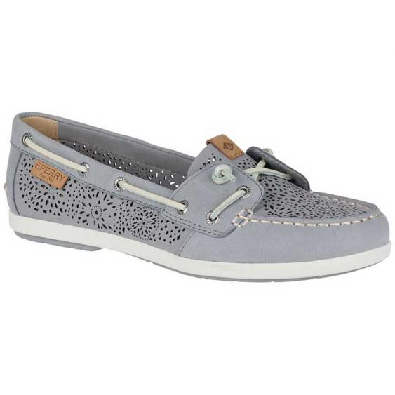 Sperry Coil Ivy Perforated Grey STS81620 (Women's)