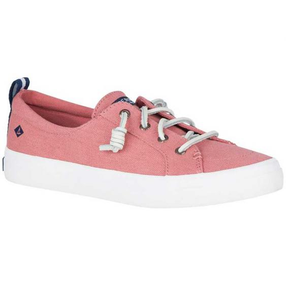 Sperry Crest Vibe Washed Linen Red STS83587 (Women's)