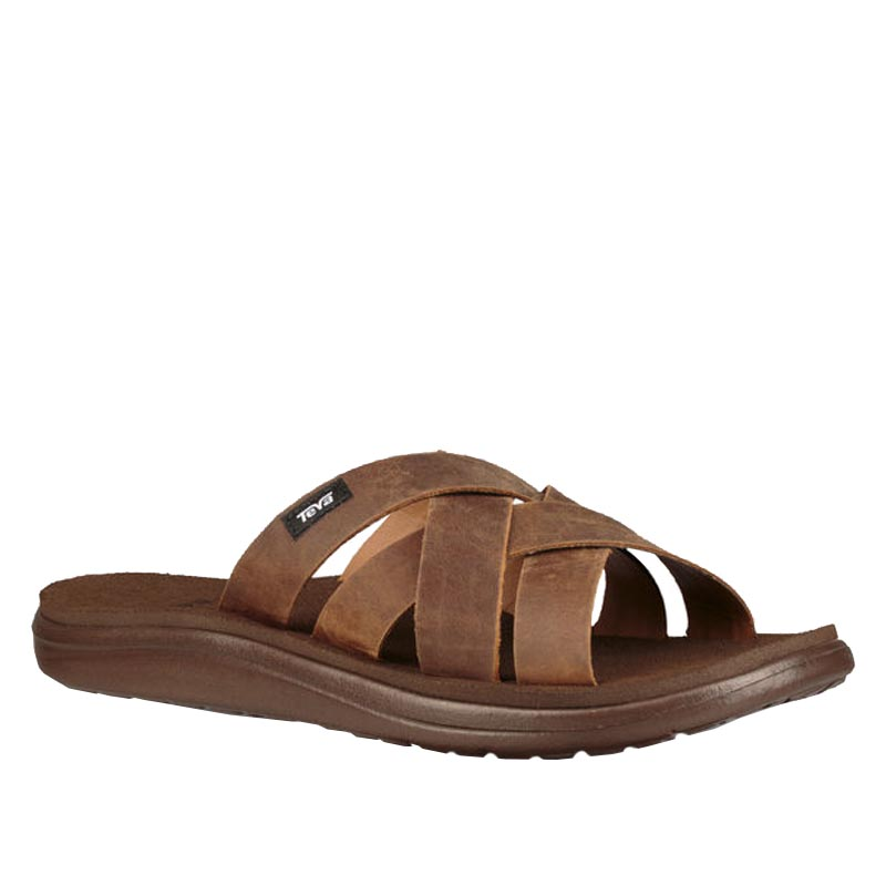 2950abc59 Teva Voya Slide Leather Pecan 1102515-PEC (Men s)