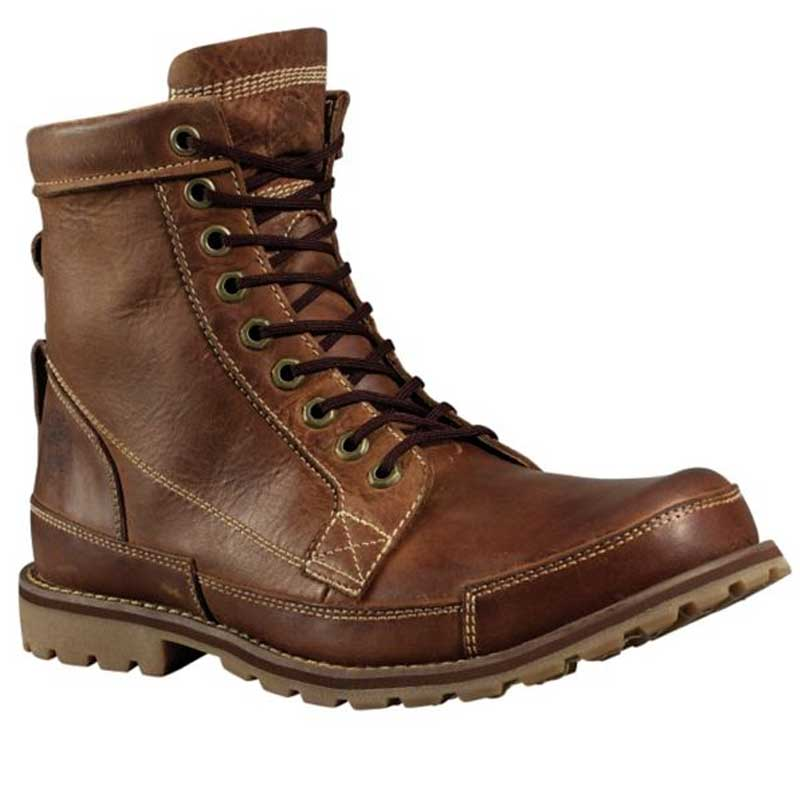 Buy Mens Timberland EK Rugged 6 Boot Red Brown Burnished