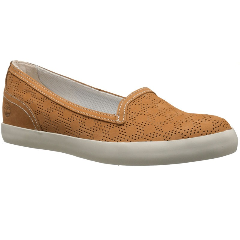 Womens Shoes Timberland Brattleboro Perf Slip-On Wheat
