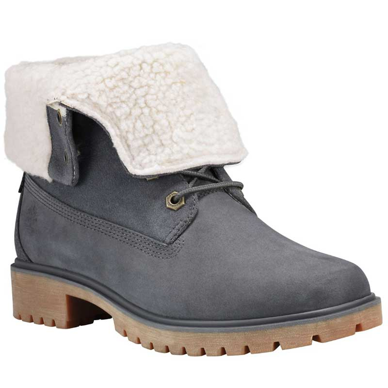 Timberland Jayne Waterproof Teddy Fleece Dark Grey