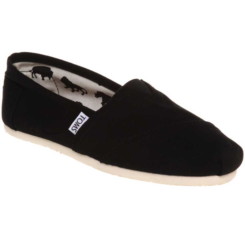 b0996be2674 TOMS Shoes Classic Canvas Slip On Black (Women s). Loading zoom