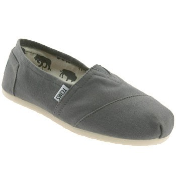 8f61a589 TOMS Shoes Classics Canvas Slip On Ash Grey (Women's)