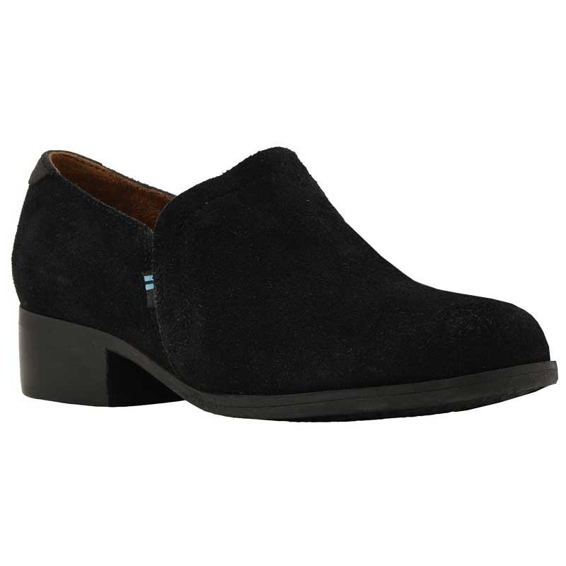 0c181f09a50 TOMS Shoes Shaye Black Suede 10012283 (Women's)