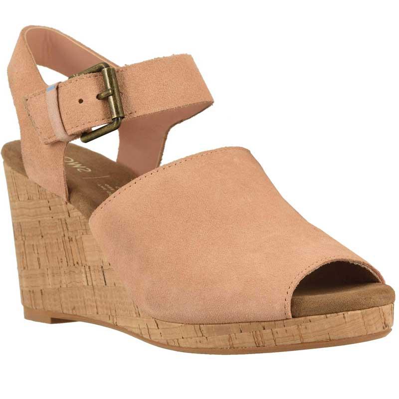 7da5d934665 TOMS Shoes Tropez Coral Pink Suede10113383 (Women's)