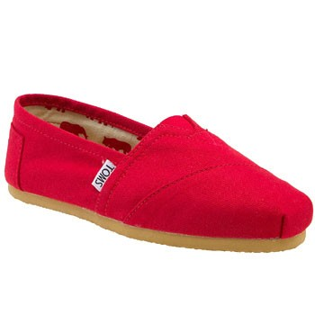 TOMS Shoes Classics Canvas Slip On Red (Women's)