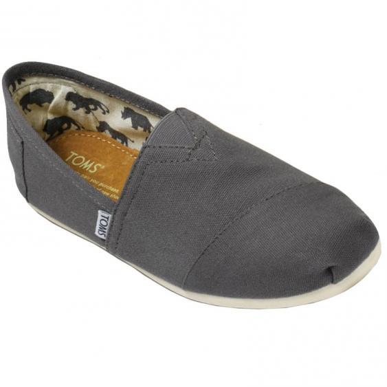 TOMS Shoes Classics Canvas Slip On Ash (Men's)