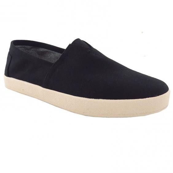 TOMS Shoes Avalon Sneaker Black Canvas 10007051 (Men's)