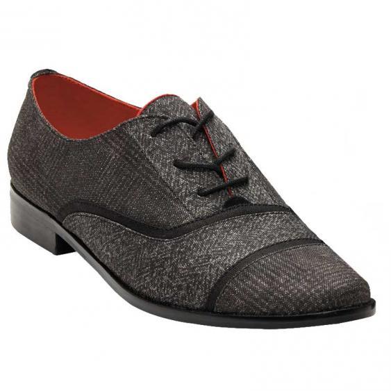 TOMS Shoes Mocha Brogue Black Mix 10006278 (Women's)