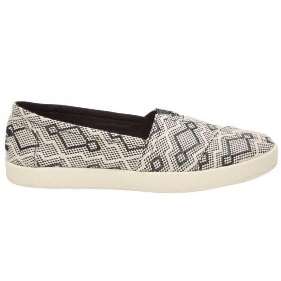 TOMS Shoes Avalon Sneaker Black Diamond Jacquard 10009983 (Women's)