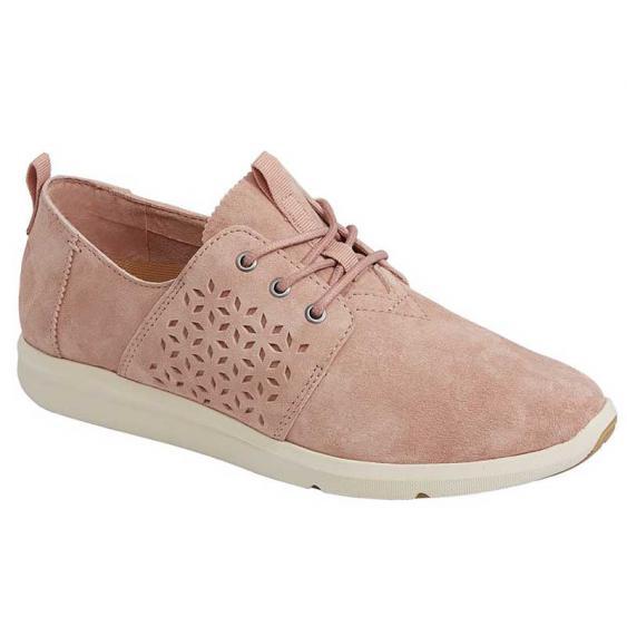 TOMS Shoes Del Rey Bloom Suede 10011744 (Women's)