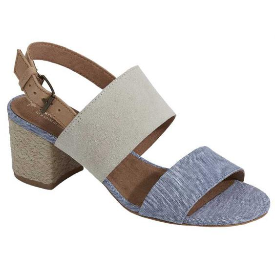 TOMS Shoes Poppy Birch/ Blue Chambray 10011696 (Women's)