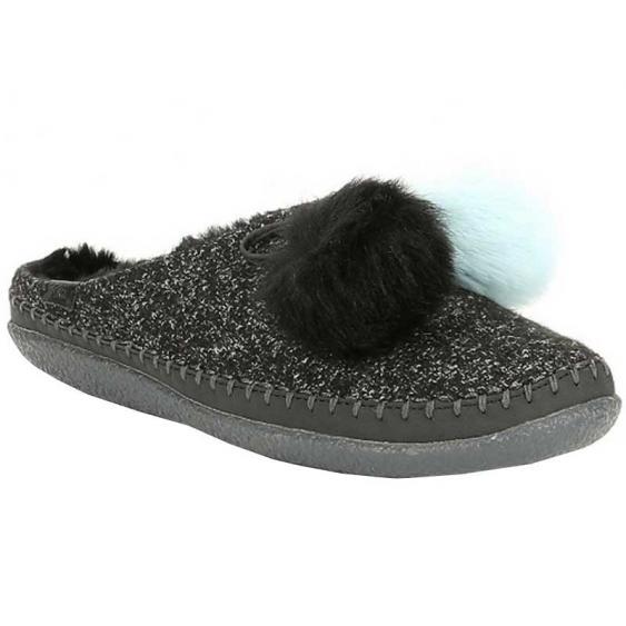 TOMS Shoes Ivy Black Multicolor Felt 10012463 (Women's)
