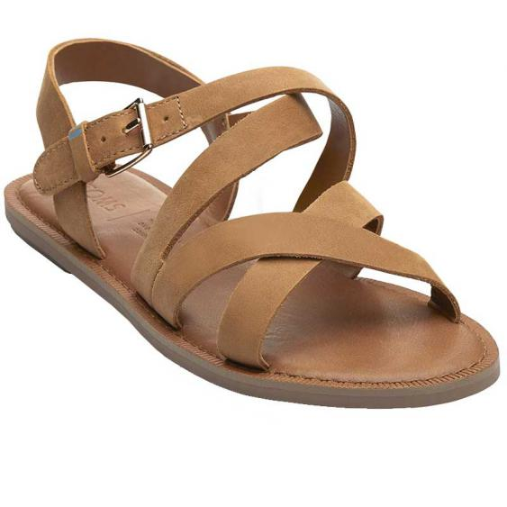 TOMS Shoes Sicily Tan Leather 10013440 (Women's)