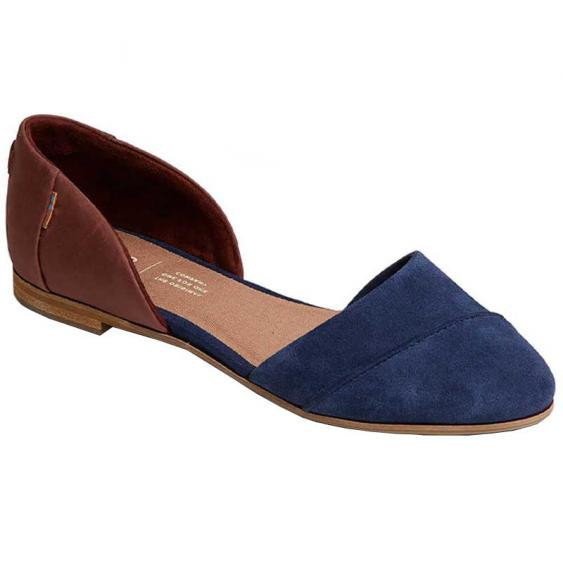 TOMS Shoes Jutti D'Orsay Navy/ Penny Brown 10014164 (Women's)