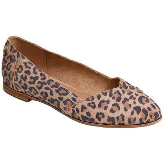 TOMS Shoes Julie Desert Tan Leopard 10014145 (Women's)