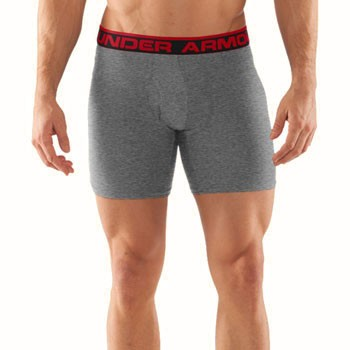Under Armour Original Boxerjock 6 Inch True Grey   Red 1230364-025 1d416309c