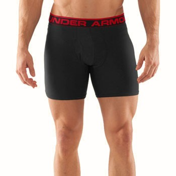Under Armour Original Boxerjock 6 Inch Black   Red 1230364-001 0948dc652