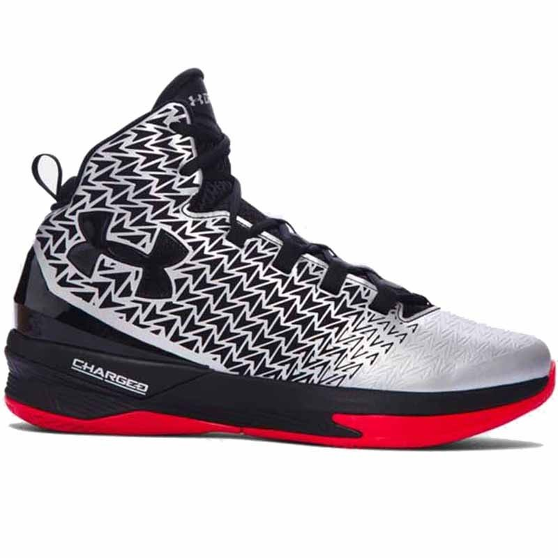 91777499352f Under Armour Clutchfit Drive 3 Silver   Black   Red 1269274-107 (Men s)