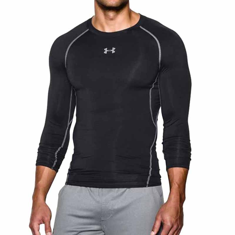 3b48c0e9 Under Armour HG Comp LS Tee Black 1257471-001 (Men's). Loading zoom