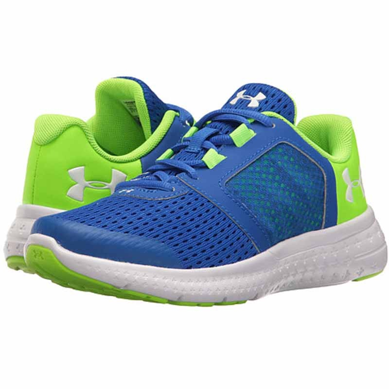 the best attitude 2e232 54169 Under Armour Micro G Fuel RN Blue / Green / White 1285439-907 (Kids)