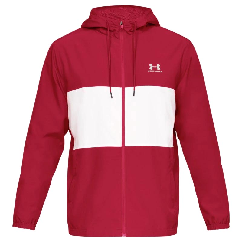 vähittäishinnat myynti uk puolet Under Armour Sportstyle Wind Jacket Red/ White 1329297-633 (Men's)