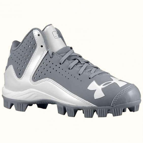 Under Armour Leadoff Mid RM JR Grey / White 1250081-021 (Youth)
