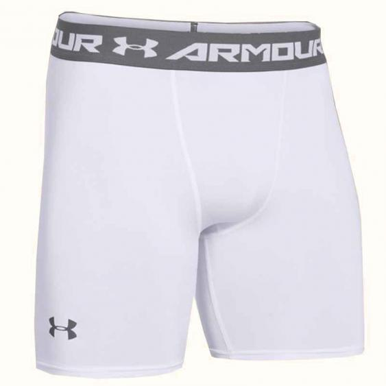 Under Armour HG Comp Short White / Graphite 1257470-100 (Men's)