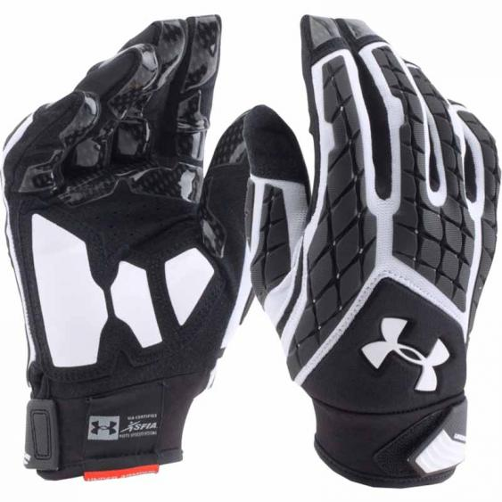 Under Armour Combat V FF Glove White / Black 1271190-100 (Adult)