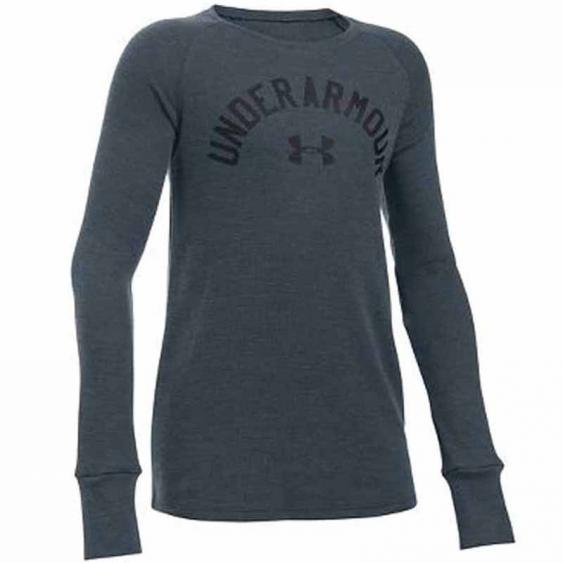 Under Armour Waffle LS Stealth Grey 1281138-008 (Youth)