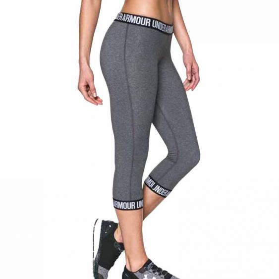 Under Armour Fav Capri Wordmark Carbon Heather 1287130-091 (Women's)
