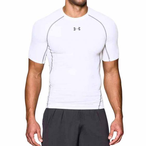 Under Armour HG Compression SS Tee White 1257468-100 (Men's)