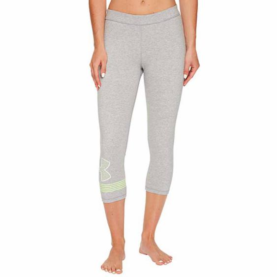 Under Armour Favorite Capri Graphic Grey / Quirky Lime 1307817-025 (Women's)