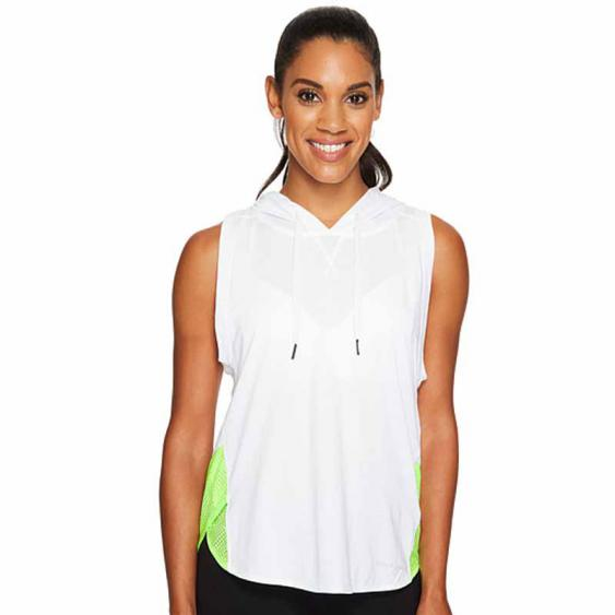 Under Armour Mesh Sleeveless Hoodie White / Quirky Lime 1308214-100 (Women's)
