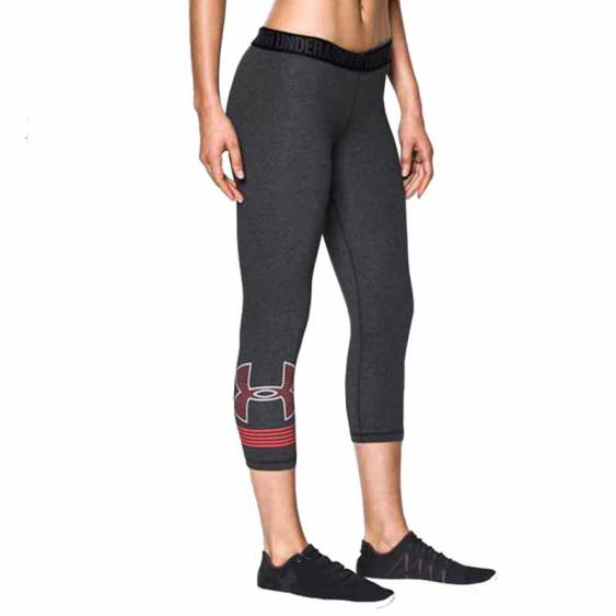 Under Armour Favorite Capri GRP Carbon / Marathon Red 1307817-090 (Women's)