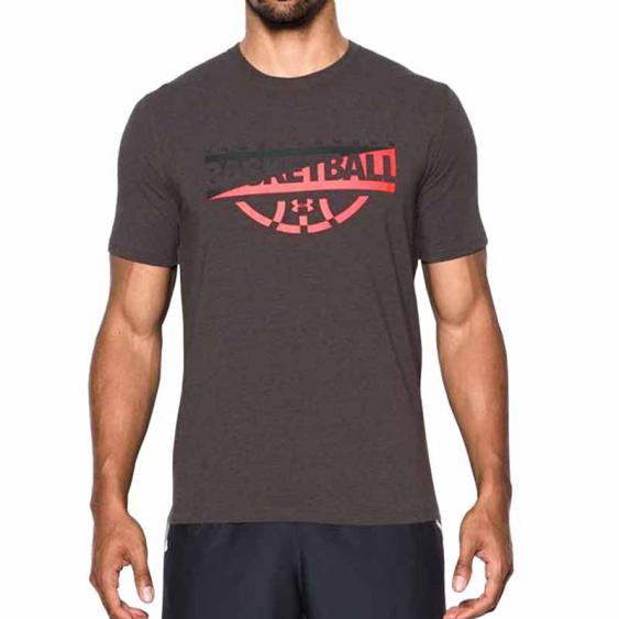 Under Armour Baseline Graphic SS Charcoal / Marathon Red 1298347-019 (Men's)