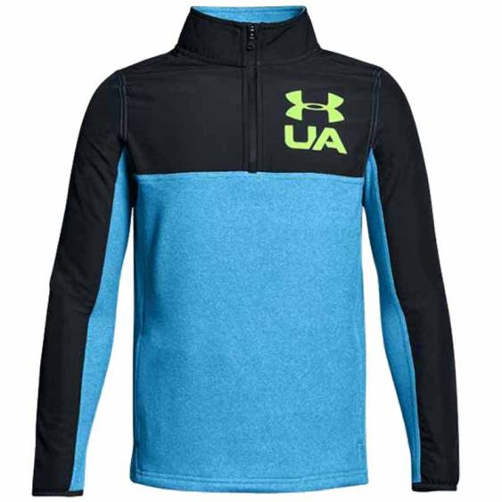 Under Armour Phenom 1/4 Zip Blue / Anthracite / Lime 1299359-899 (Youth)