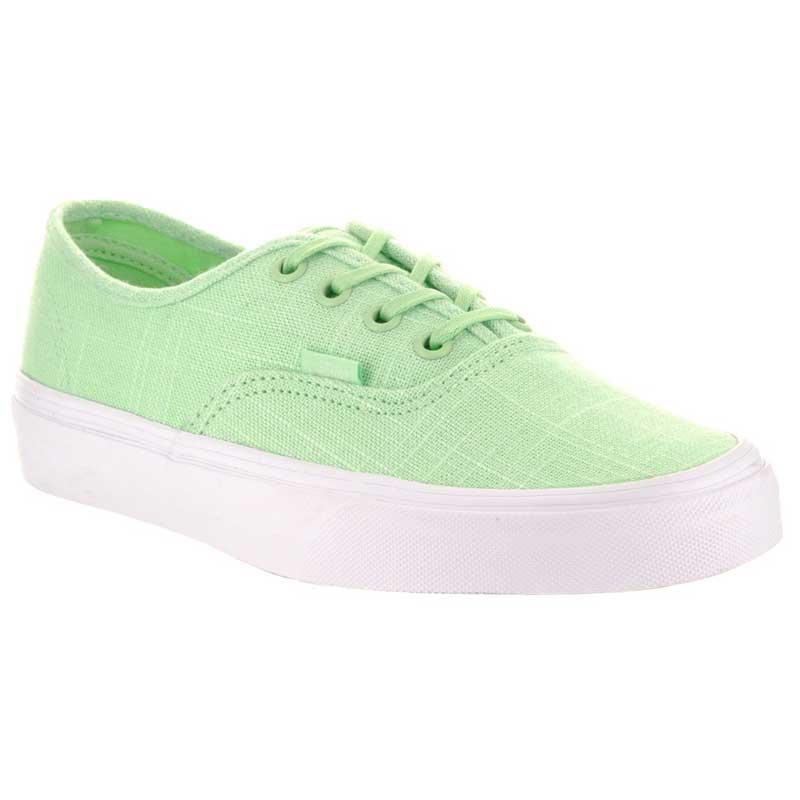 Vans Authentic Hemp Linen Patina Green  True White VN0A38EMMPA (Women s).  Loading zoom f2ced337b3