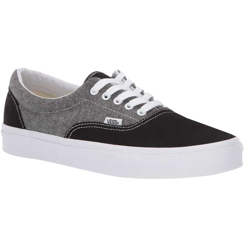31581a79 Vans Era Chambray Canvas Black/ True White Vn0A38FRVJ6 (Men's)