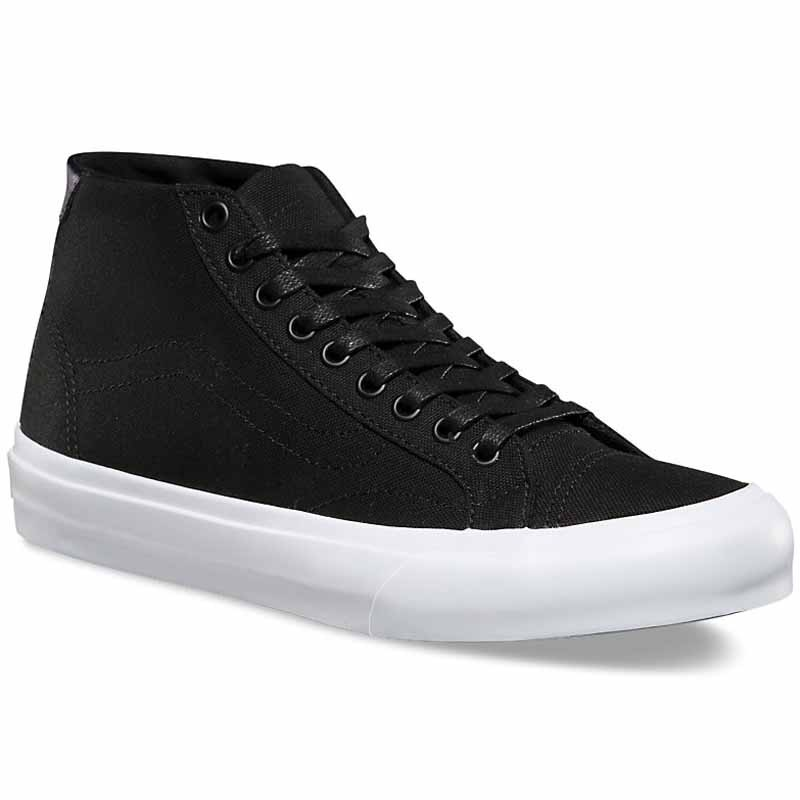 a90f50c5bf Vans Court Mid Canvas Black   White VN0A34A61WX (Women s)