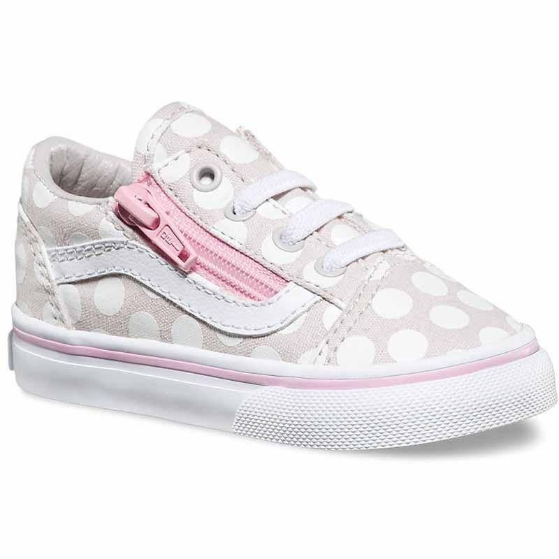 80970bffc06b Vans Old Skool Zip Polka Dot Wind Chime   Pink VN0A3EFMMY (Infant)