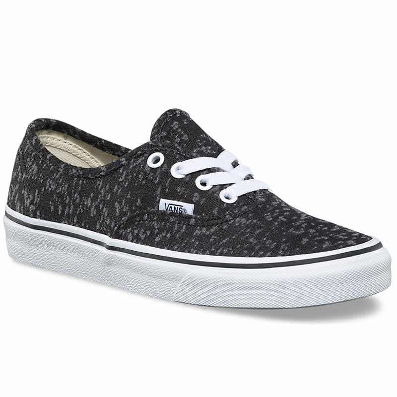 Vans Marled Canvas Authentic Black   True White VN0A38EMQ8X ... 30f915a337df