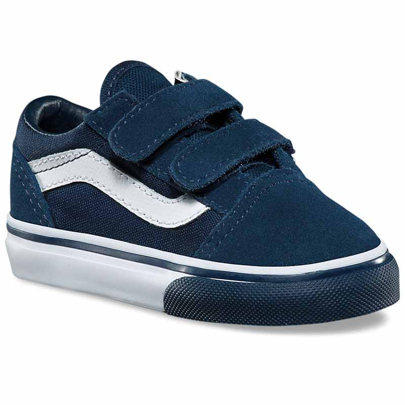 0294a8b72882e6 Vans Old Skool V Mono Bumper Dress Blues   White VN0A44KQ7I (Infant).  Loading zoom