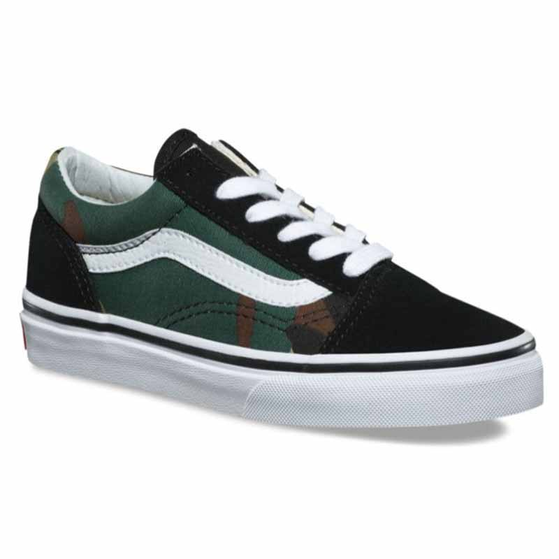 f666e39afe Vans Old Skool Woodland Camo Black VN0A38HBNRA (Youth). Loading zoom