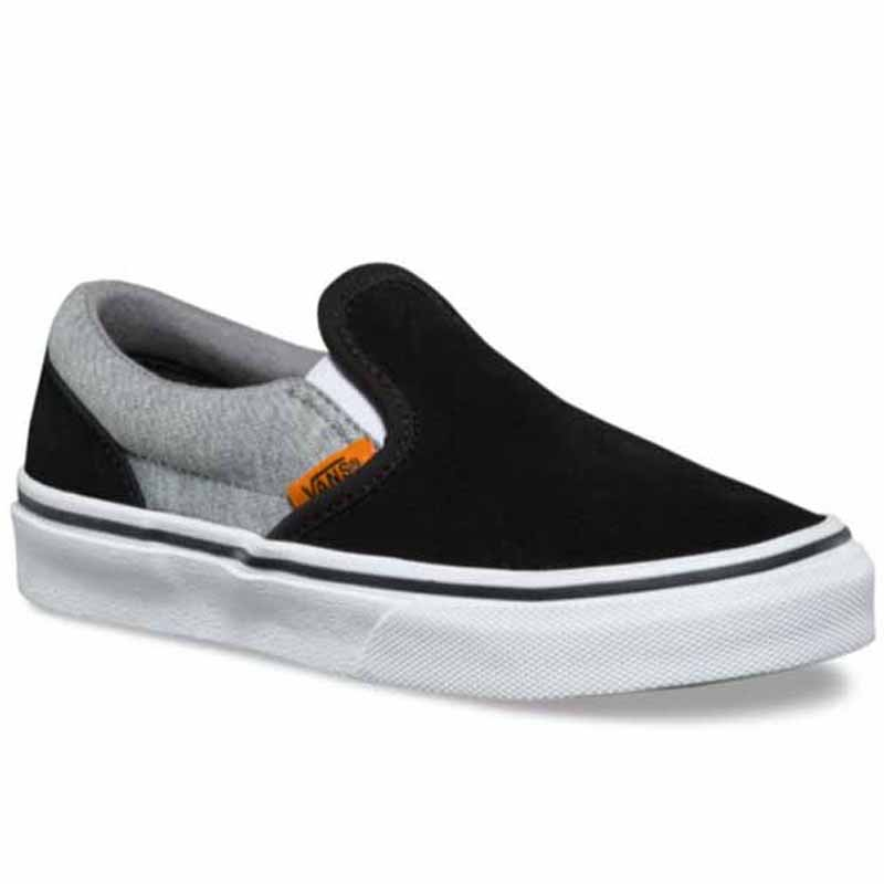 d6efd8f052 Vans Classic Slip On Suede and Jersey Grey   Black VN0A32QIU46 (Youth).  Loading zoom