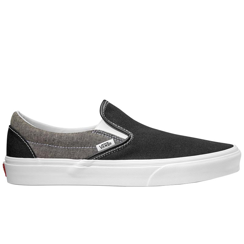 super populaire e472f 9a71e Vans Classic Slip-On Canvas Black/ True White VN0A38F7VJ6 (Men's)