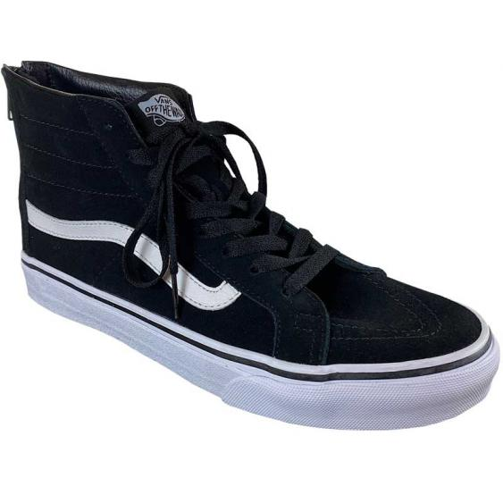 Vans Sk8-Hi Slim Black/ White VN0A38GRQWN (Women's)