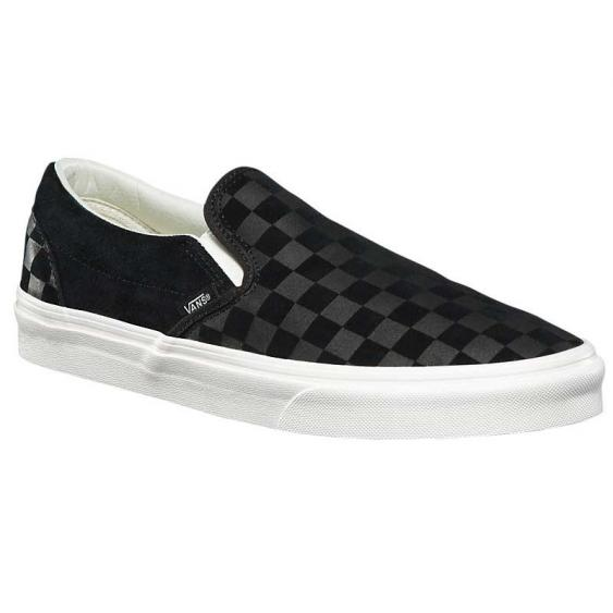 Vans Classic Slip-On Checker Emboss Black/ Marshmallow VN0A38F7QCF (Men's)